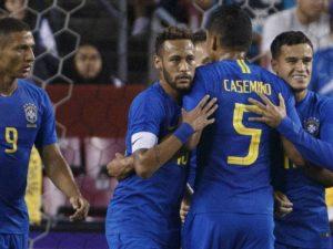 Brazili turpëron El Salvadorin, Neymar nuk di të ndryshojë (video)