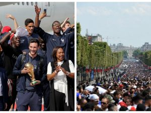E gjithë Franca në këmbë, mbërrin ekipi kampion