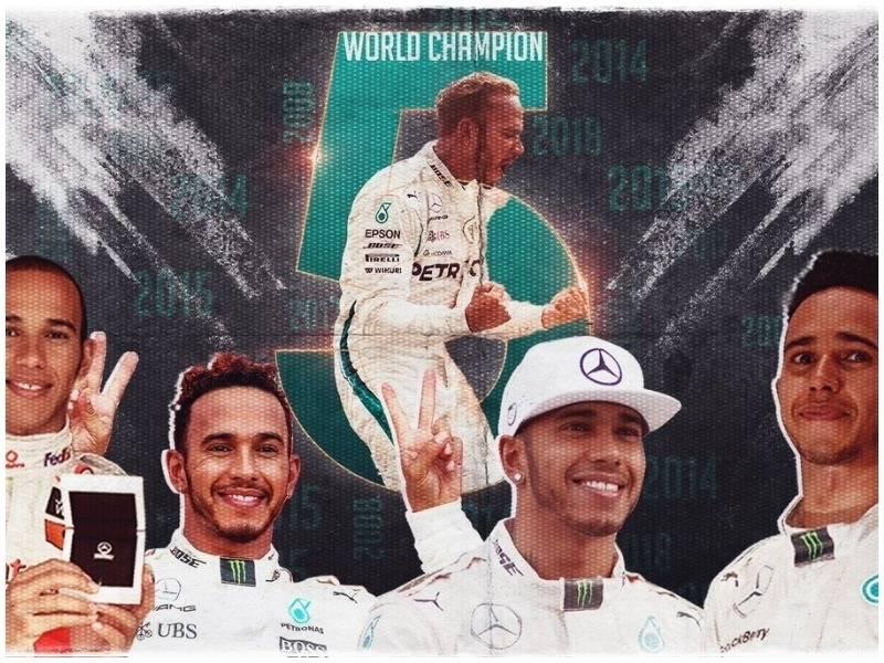 """Hamilton në """"Olimpin"""" e Formula 1, kampion për herë të pestë"""