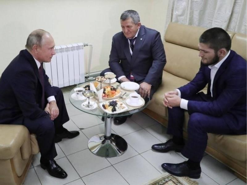 Khabib takohet me Putin dhe kërcënon UFC