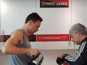 Matic dhe Lukaku kafe me Mourinho-n