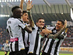 Udinese befason Romën në shtëpi (video)