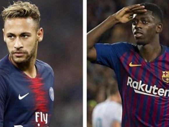 Barcelona dhe PSG diskutojnë shkëmbimin Dembele-Neymar