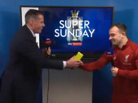 Shaqiri i dërgon të fala Gary Neville pasi mori çmimin 'Lojtari i ndeshjes' me dygolëshit ndaj Unitedit