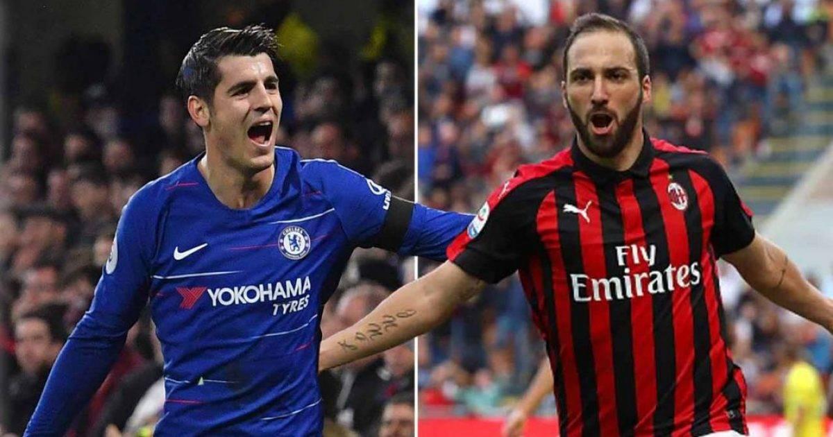 Juventusi nuk e pranon ofertën e Chelseat për shkëmbimin e Higuainit me Moratën