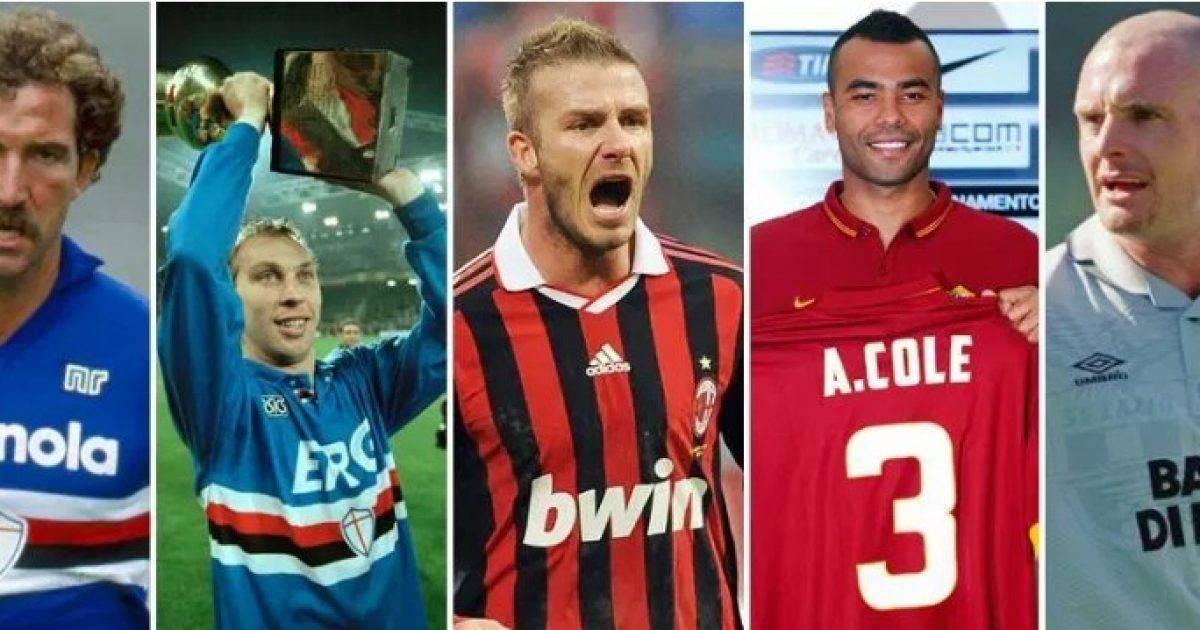 Nga Beckham te Gazza dhe nga Ince te Cole – këta janë dhjetë yjet britanikë që u përpoqën të luajnë në Itali