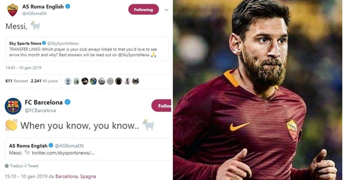 Roma dhe Barcelona replika në 'Twitter' – Giallorosët dëshirojnë të nënshkruajnë me Messin në janar