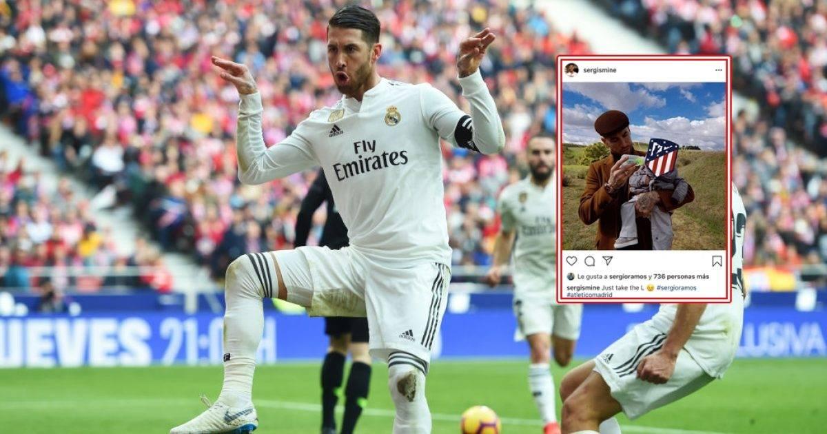 Pasi talli Griezmannin me festimin e golit, Ramos pëlqen një postim tallës në Instagram për Atleticon