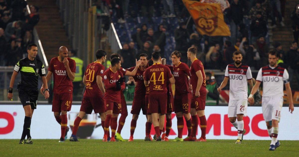 Roma fiton me vështirësi ndaj Bolognas