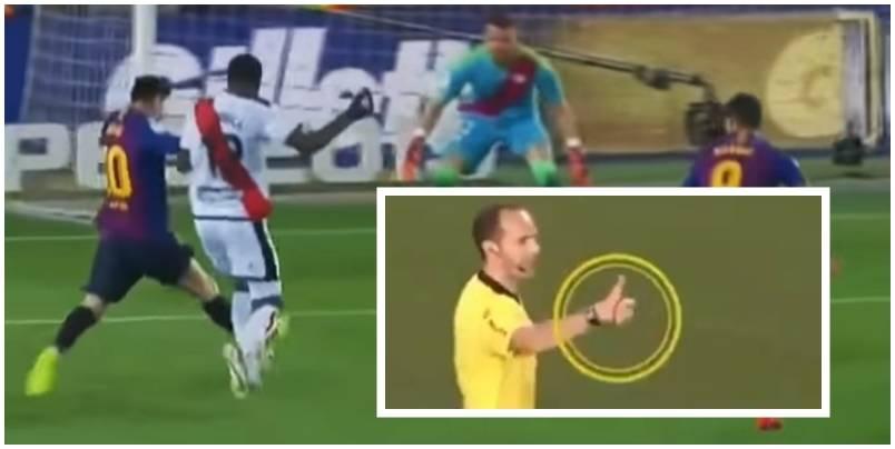 Sa i madh Messi, i tha gjyqtarit se nuk ka nevojë të konsultohet me VAR-in pasi ndërhyrja në atë nuk ishte për penallti