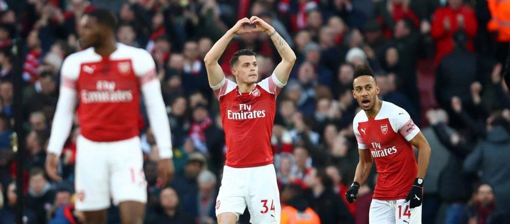 Xhaka lë të shtangur De Gean me një gjuajte jashtë zonës, Arsenali në epërsi