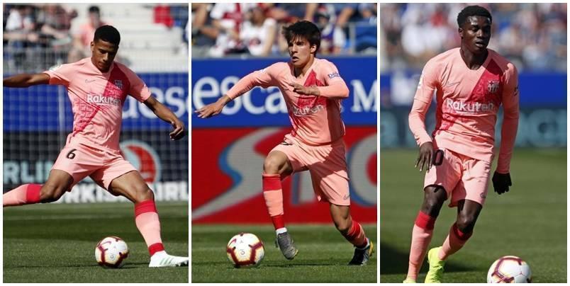 E ardhmja është e tyre, momentet më të mira të tre talentëve që debutuan për Barçën në La Liga ndaj Huescas