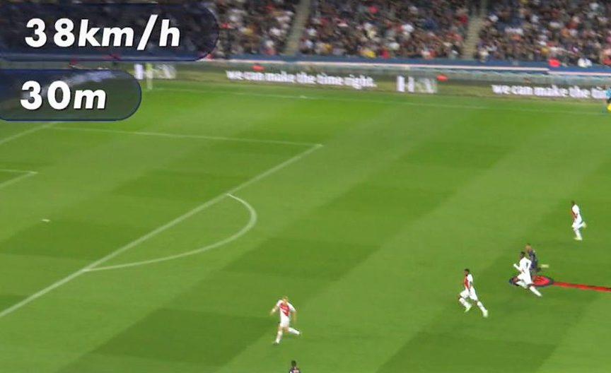 Në rast se iu ka ikur, Mbappe regjistroi shpejtësi 38 km/h te goli i parë ndaj Monacos