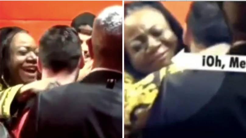 Nëna e Romelu Lukaku fanse e flaktë e Lionel Messit, jashtëzakonisht e lumtur që e takoi – fotografi dhe përqafime në Old Trafford