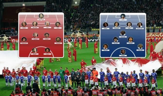 Finalja e vetme angleze në Ligën e Kampionëve, këto ishin formacionet e Unitedit dhe Chelseat në vitin 2008