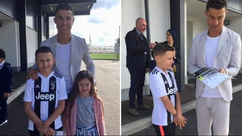 Ronaldo i realizon ëndrrën 10-vjeçarit që vuan nga tumori në tru