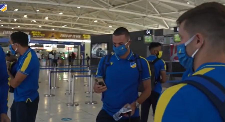 APOEL Nicosia zbarkon në Kosovë për ndeshjen me Gjilanin, publikojnë pamje nga udhëtimi i tyre