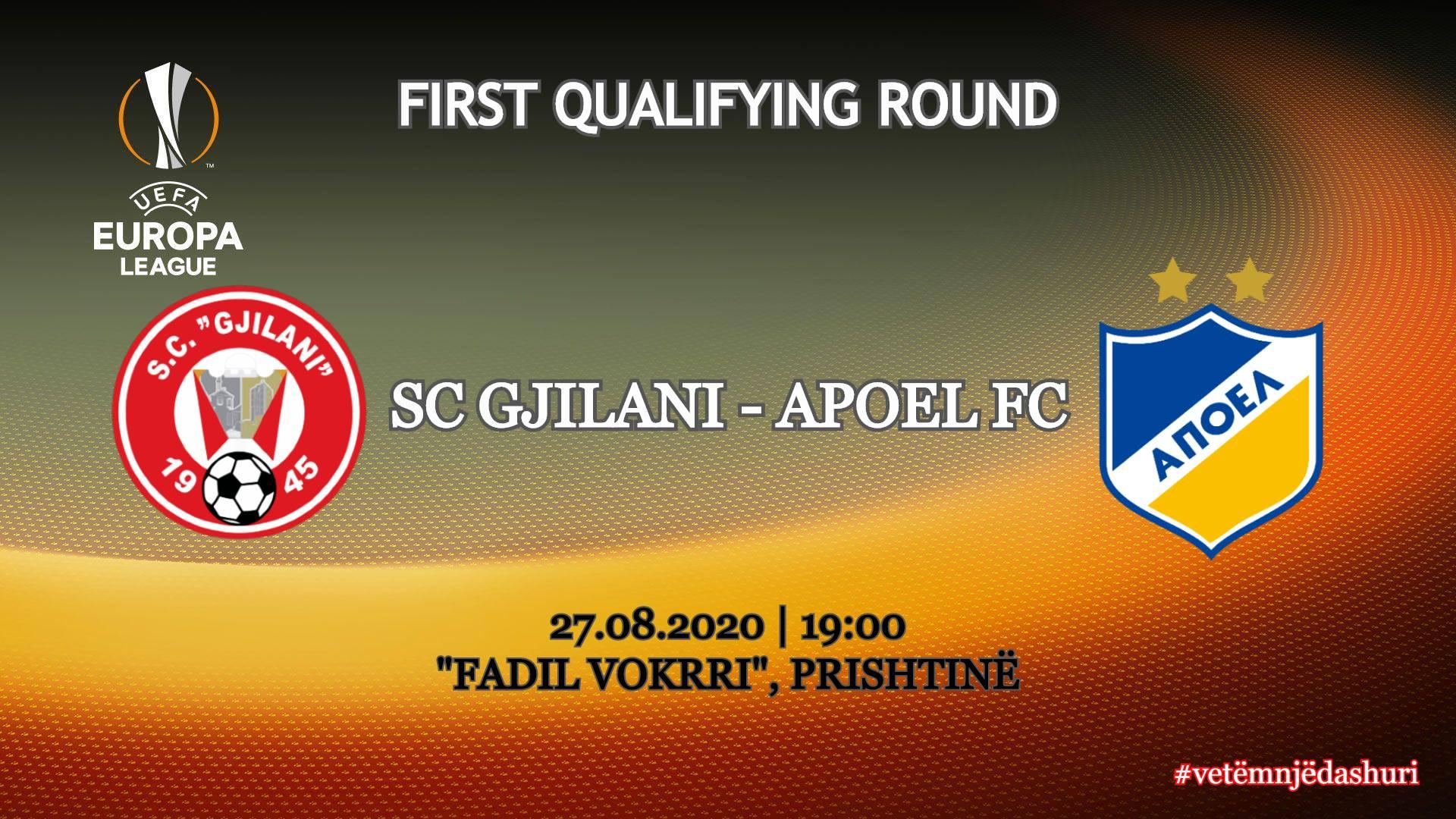 Gjilani konfirmon se më 27 gusht përballet me Apoelin në kualifikimet e Ligës së Evropës
