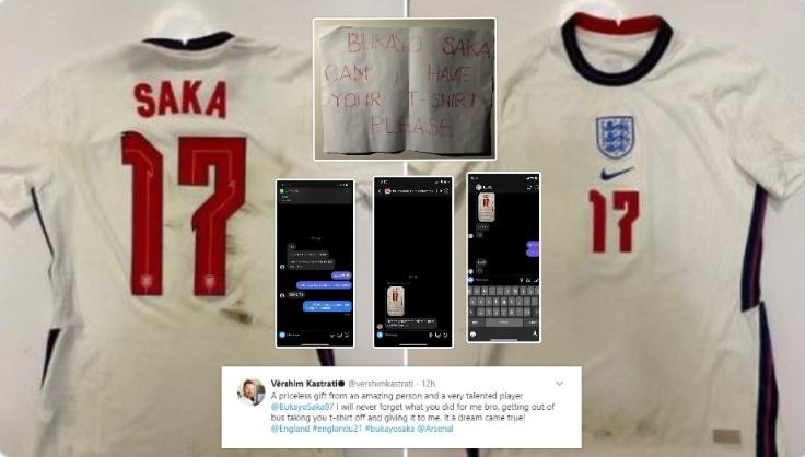 Gjesti i madh i Bukayo Saka – Zbret nga autobusi dhe ia dhuron fanellën e tij djaloshit nga Kosova, tifozët e Arsenalit tani kërkojnë t'ia blejnë