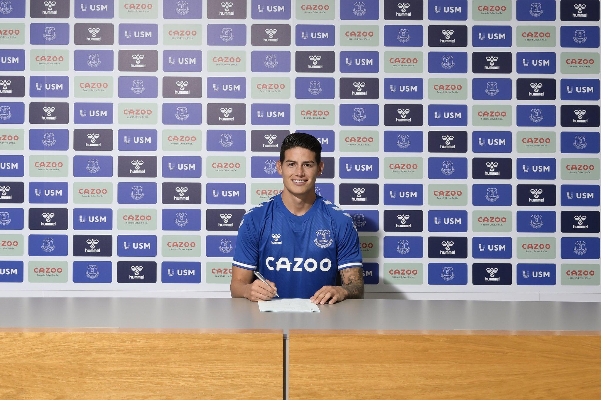 Zyrtare: James Rodriguez kalon te Evertoni