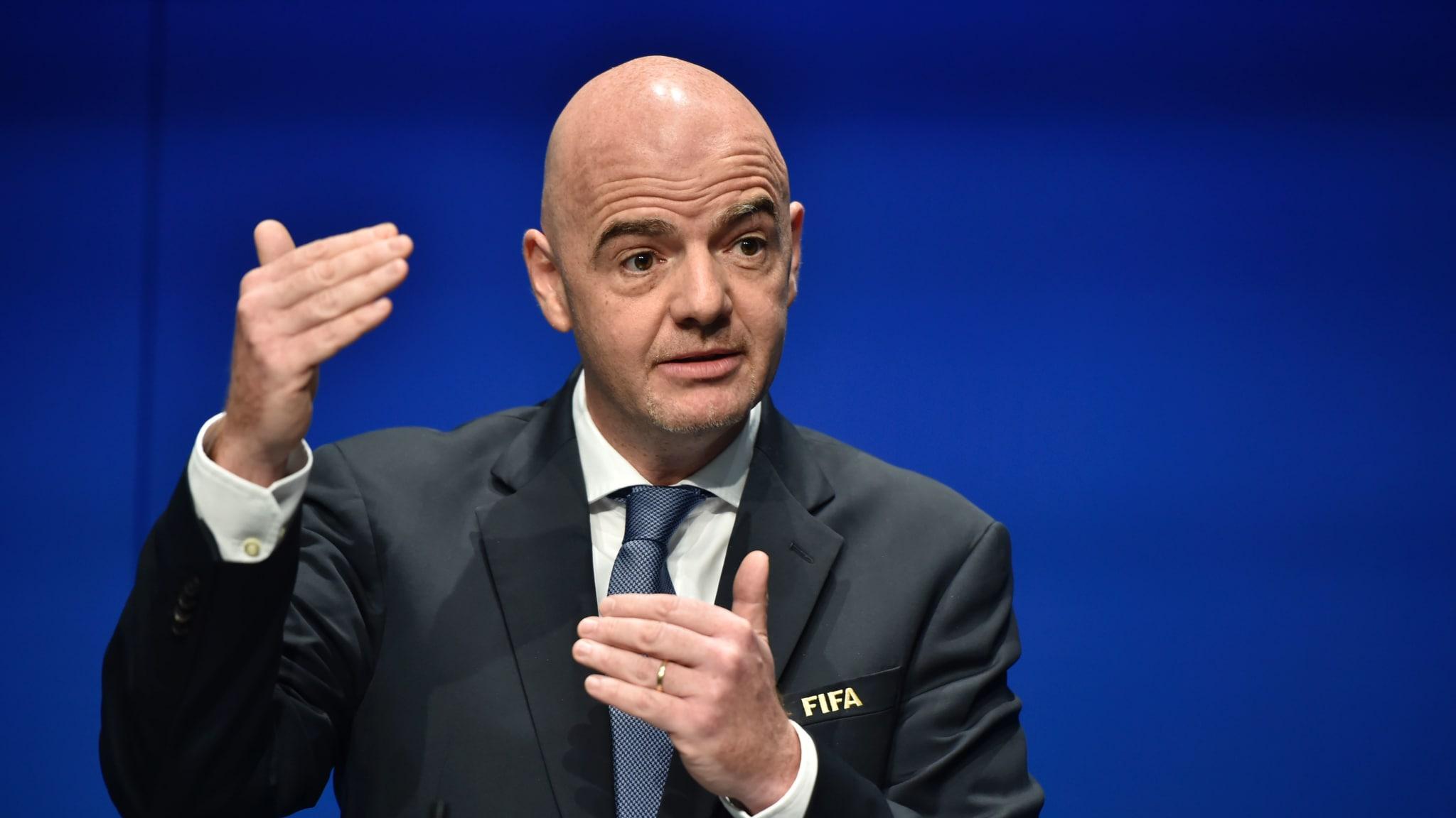 VIDEO/ Mesazh i qartë nga FIFA, Giann Infantino përshëndet Asamblenë Vjetore të FSHF-ës!